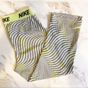 Nike Dri-Fit Capri 3/4 Length Tights Neon Sz M